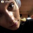 Camille Cerf à la salle de sport, mardi 24 octobre 2017, Instagram