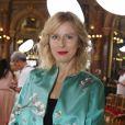 """Karin Viard - People au défilé de mode Haute-Couture automne-hiver 2017/2018 """"Lan Yu"""" à l'hôtel Intercontinental à Paris, le 5 juillet 2017. © Denis Guignebourg / Bestimage"""