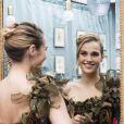 Semi-exclusif - Camille Lou essaye sa robe pour le défilé du 23ème salon du chocolat à Paris le 25 octobre 2017. La chanteuse sort son nouvel album en novembre chez Warner Music. © Pierre Perusseau/ Bestimage