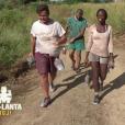 """André, Fabian, Magalie et Romain ont remoprté l'épreuve de confort dans """"Koh-Lanta Fidji"""" (TF1), vendredi 3 novembre 2017."""