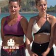 """""""Sandrine, Tiffany, André et Magalie dans """"Koh-Lanta Fidji"""" (TF1), vendredi 3 novembre 2017."""""""
