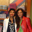 Imani et Yelena Noah - Présentation de la nouvelle collection Tommy Hilfiger hommage à l'Afrique, à Paris, le 26 avril 2012.