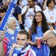 """""""Marie-Claire, la mère de Yannick Noah, et Yelena Noah à l'EuroBasket 2011, finale entre la France et l'Espagne, le 18 septembre 2011."""""""