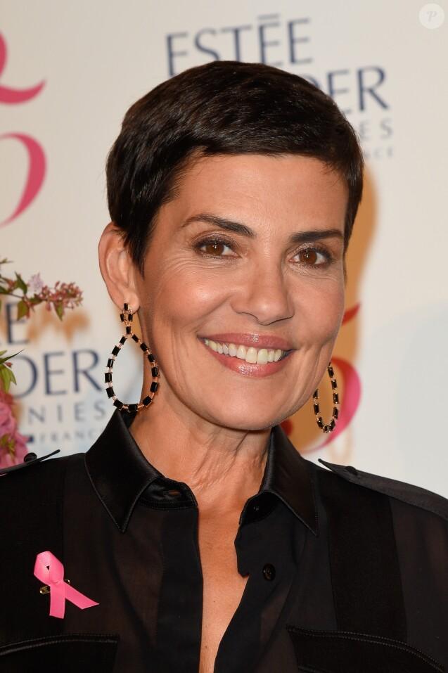Cristina Cordula (ambassadrice 2017 d'Octobre Rose) lors de la soirée de lancement du mois d'Octobre Rose (la 24ème campagne) avec la remise des Prix Ruban Rose et l'illumination de la Tour Eiffel en rose. © Coadic Guirec/Bestimage