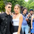 Pierre Niney et sa compagne Natasha Andrews arrivent au défilé de mode Dior homme printemps-été 2018 au Grand Palais à Paris, France, on June 24, 2017. © CVS/Veeren/Bestimage C