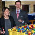 Marie et Joachim de Danemark visitent Legoland à Billund, au Danemark