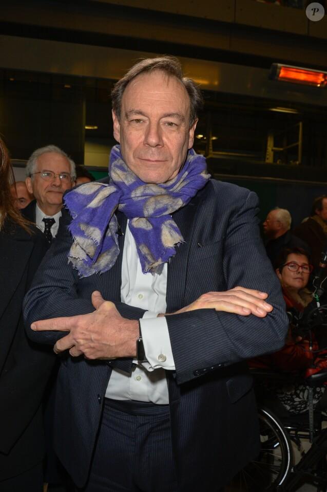 Xavier Couture lors de l'hommage à Rémy Pflimlin dans les locaux de France Télévision à Paris, le 12 décembre 2016.
