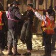 """Exclusif - Chloë Grace Moretz sur le tournage du film """"The Widow"""" à Toronto le 2 novembre 2017."""