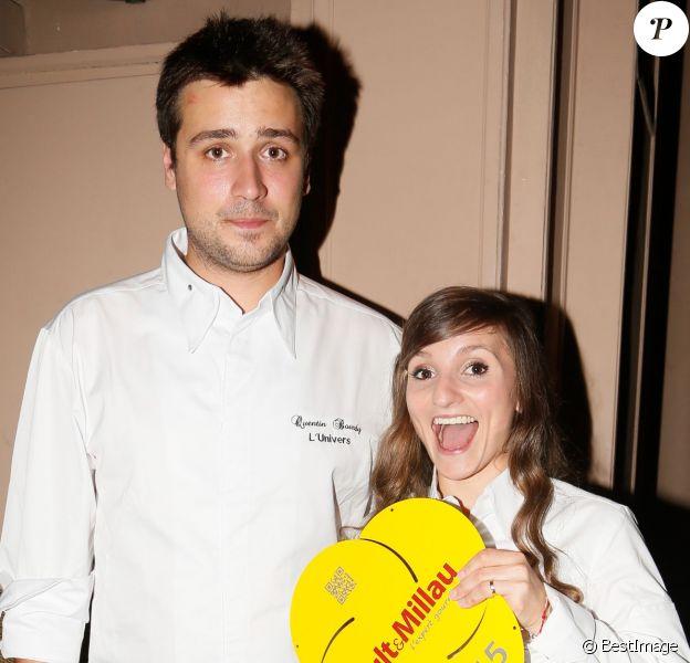 Quentin Bourdy (Top Chef 2013) et Noëmie Honiat (Top Chef 2012 et 2014) - Soirée de lancement du guide Gault et Millau 2015 au Trianon à Paris le 27 octobre 2014.