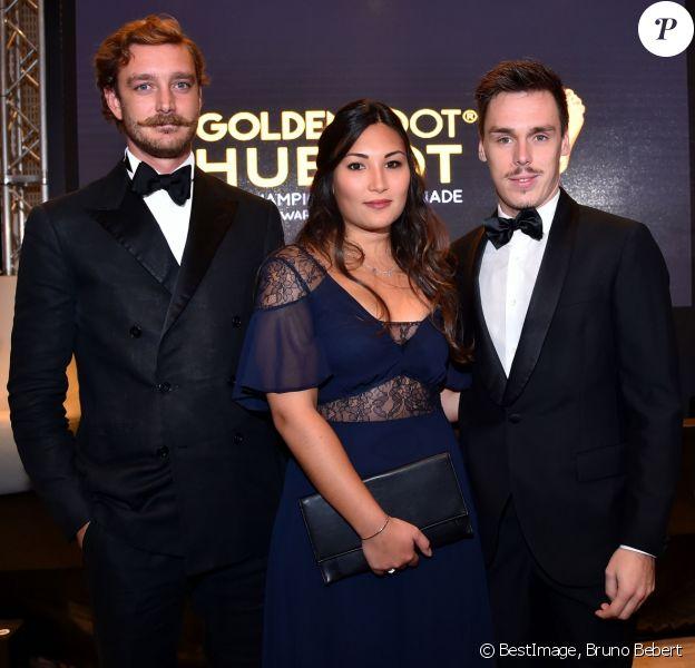 Pierre Casiraghi, Louis Ducruet et sa compagne Marie lors de la 15e édition du Golden Foot Hublot Award, remis à Iker Casillas le 7 novembre 2017 à l'hôtel Mériden à Monaco. © Bruno Bebert/Bestimage