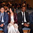 Li Ming et sa compagne, Marcel Desailly et Roberto Mancini lors de la 15e édition du Golden Foot Hublot Award, remis à Iker Casillas le 7 novembre 2017 à l'hôtel Mériden à Monaco. © Bruno Bebert/Bestimage
