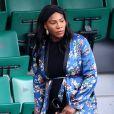 Serena Williams, enceinte, dans les tribunes de Roland Garros à Paris le 2 juin 2017. © Cyril Moreau / Dominique Jacovides / Bestimage