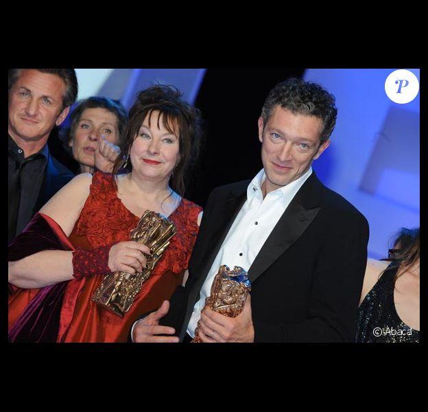 Vincent Cassel et Yolande Moreau les grands gagnants de la soirée des Cesar, meilleur acteur et meilleure actrice