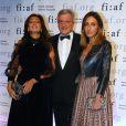 Katia, Sidney et Julia Toledano - Gala Trophée des Arts 2017 organisé par la FIAF à l'hôtel Plaza. New York, le 13 novembre 2017 © Morgan Dessalles/Bestimage
