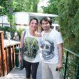Chistophe Dominici et sa femme Loretta à Roland Garros à Paris. Le 24 mai 2010