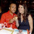 """Exclusif - Pascal Légitimus et sa femme Adriana Santini - Pascal Légitimus présente sa dernière représentation exceptionnelle de son spectacle """"Alone Man Show"""" à Bobino le 30 mai 2015."""