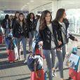 Les Miss régionales embarquent pour la Californie, le 19 novembre 2017 à l'aéroport Paris- Charles-de-Gaulle. Parmi elles, la future Miss France 2018 !