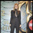 Carine Roitfeld, rédactrice en chef de  Vogue  (édition française) à la Fashion Week milanaise, pendant la soirée Cavalli
