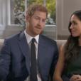 Le prince Harry et Meghan Markle lors de l'interview accordée le jour de l'annonce de leurs fiançailles, le 27 novembre 2017, à Mishal Husain de BBC.