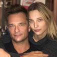 David Hallyday et sa fille aînée Ilona Smet à Paris, le 28 novembre 2017.