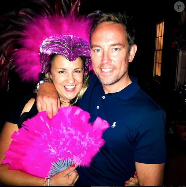 Simon Thomas au côté de son épouse Gemma le jour de ses 40 ans, le 16 juillet 2017. Elle est morte le 24 novembre à l'hôpital, quelques jours après avoir été diagnostiquée d'une leucémie.