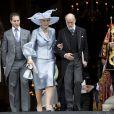 Lord Frederick (Freddie) Windsor et Sophie Winkleman (Lady Frederick Windsor) quittant avec le prince et la princesse Michael de Kent la cathédrale Saint Paul en juin 2012 après la messe pour le jubilé de diamant de la reine Elizabeth II.