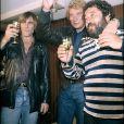 Johnny Hallyday avec Carlos et Gérard Depardieu en 1980