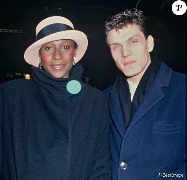 Marc Lavoine et Denise Pascale aux Victoires de la musique en 1985. © RINDOFF-PATERSON / Bestimage