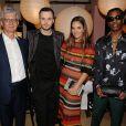 """Francois Laffanour, Kris Van Assche, Laure Heriard et A$AP Rocky - Dîner de lancement de la nouvelle collection """"Black Carpet"""" de DIOR HOMME et du coup d'envoi d'Art Basel Miami. Miami, le 6 décembre 2017."""
