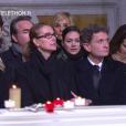 Nathalie Péchalat en larmes aux obsèques de Johnny Hallyday à Paris. Le 9 décembre 2017.