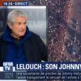 Claude Lelouch explique pourquoi il a filmé avec son smartphone pendant les obsèques de Johnny Hallyday sur BFMTV le dimanche 10 décembre 2017.