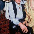 Johnny Hallyday avec Sylvie Vartan le soir du dernier concert de sa tournée en 1979.