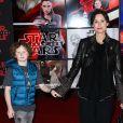Henry Driver et sa mère Minnie Driver à la première de 'Star Wars: The Last Jedi' au The Shrine Auditorium à Los Angeles, le 9 décembre 2017