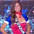 Miss Côte d'Azur :             Julia Sidi-Atman             en tenue du 14 juillet - Concours Miss France 2018. Sur TF1, le 16 décembre 2017.