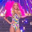 Miss Lorraine : Cloé Cirelli en maillot de bain - Concours Miss France 2018. Sur TF1, le 16 décembre 2017.