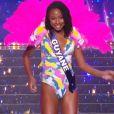 Miss Guyane : Ruth Briquet en maillot de bain  - Concours Miss France 2018. Sur TF1, le 16 décembre 2017.