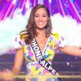 Miss Rhône-Alpes : Dalida Benaoudia             en maillot de bain - Concours Miss France 2018. Sur TF1, le 16 décembre 2017.