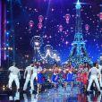 Les Miss régionales habillées pour célébrer le 14 juillet - Concours Miss France 2018. Sur TF1, le 16 décembre 2017.