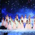 Les Miss régionales rendent hommage à Johnny Hallyday - Concours Miss France 2018. Sur TF1, le 16 décembre 2017.
