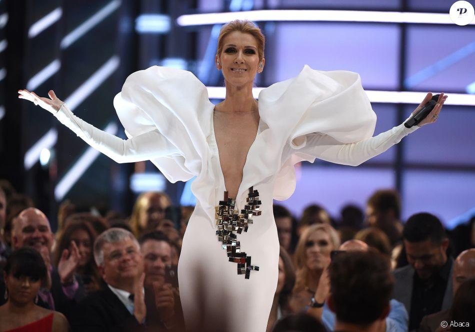 Céline Dion à la cérémonie des Billboard Music Awards à la T-Mobile Arena de Las Vegas, le 21 mai 2017
