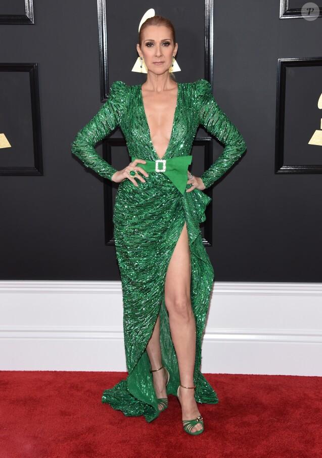 Celine Dion à la cérémonie des 59èmes Grammy Awards au Staples Center à Los Angeles le 12 Février 2017. © Lisa O'Connor via ZUMA Wire / Bestimage