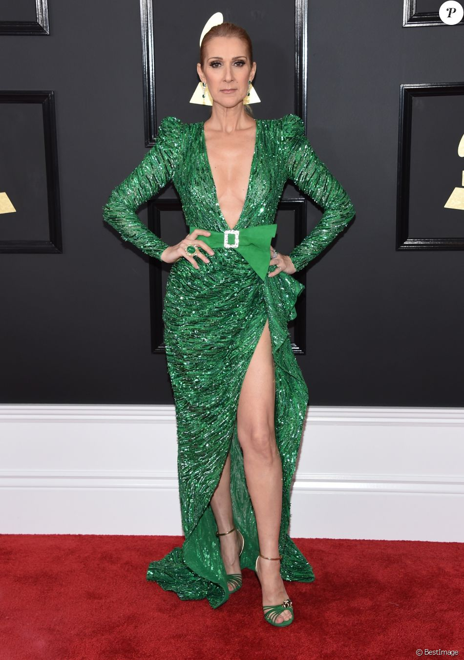 Celine Dion à la cérémonie des 59èmes Grammy Awards au Staples Center à Los Angeles le 12 Février 2017. © Lisa O'Connor via ZUMA Wire / Bestimage