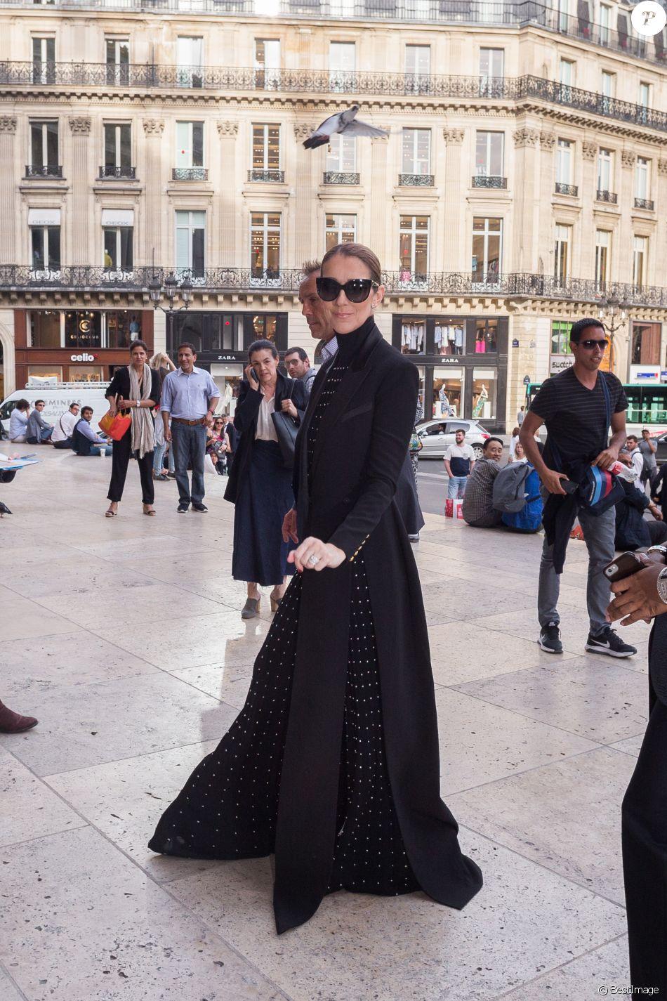 Semi Exclusif - Céline Dion à l'Opéra Garnier à Paris, le 13 juin 2017.