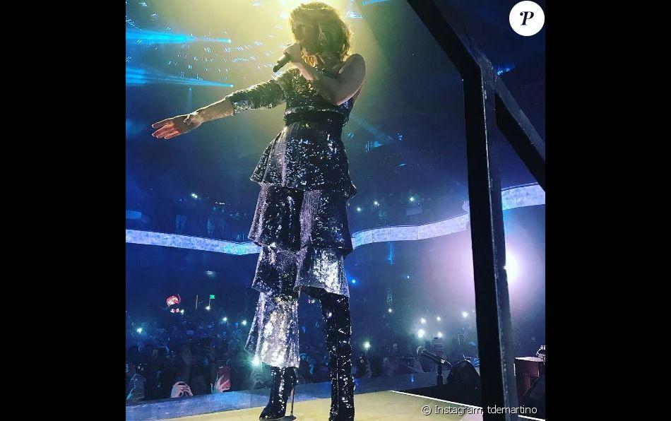 Céline Dion à la boite de nuit Omnia, à Las Vegas, le 7 novembre 2017