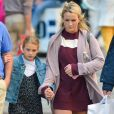 Exclusif - Jamie Lynn Spears et sa fille Maddie profitent de leur journée à New York le 1er octobre 2017.