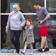 Exclusif - Jamie Lynn Spears se rend au cinéma de bon matin avec sa mère Lynne et sa fille Maddie à Kentwood, le 12 mars 2014.
