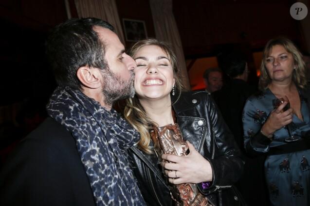 Eric Lartigau et Louane Emera (César du meilleur espoir féminin) - Dîner au Fouquet's lors de la 40e cérémonie des César à Paris le 20 février 2015.