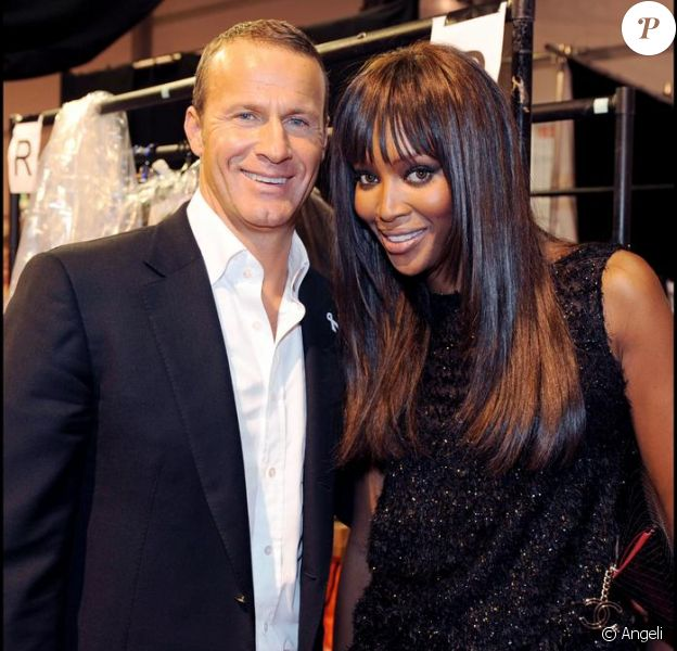 Naomi Campbell et Vladislav Doronin à la Fashion Week à Londres le 17/09/2008