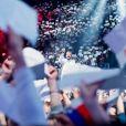 """""""Concert des Enfoirés 2017, """"Mission Enfoirés"""", tourné en janvier au Zénith de Toulouse et diffusé le vendredi 3 mars sur TF1."""""""