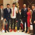 """""""Zinédine Zidane a passé Noël en famille, avec sa femme Véronique, leurs quatre fils Enzo, Luca, Théo et Elyza, et son neveu Driss, à Dubaï. Instagram, décembre 2017."""""""